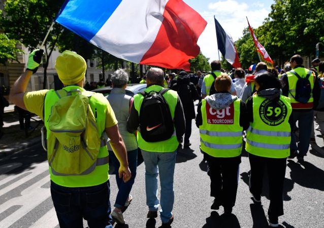 Les Gilets jaunes lors de l'acte 24 à Paris