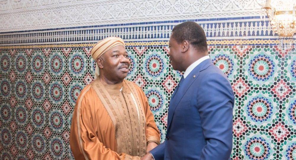 Ali Bongo et Faure Gnassingbé à Libreville le 7 mai.