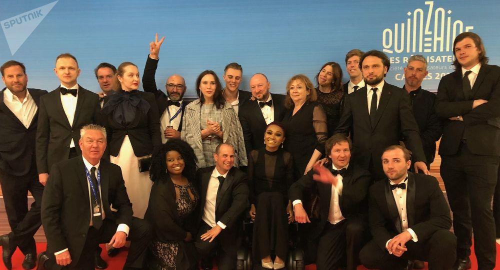 L'équipe de «Give me liberty» a l'issue de la projection lors de la Quinzaine des réalisateurs en 2019