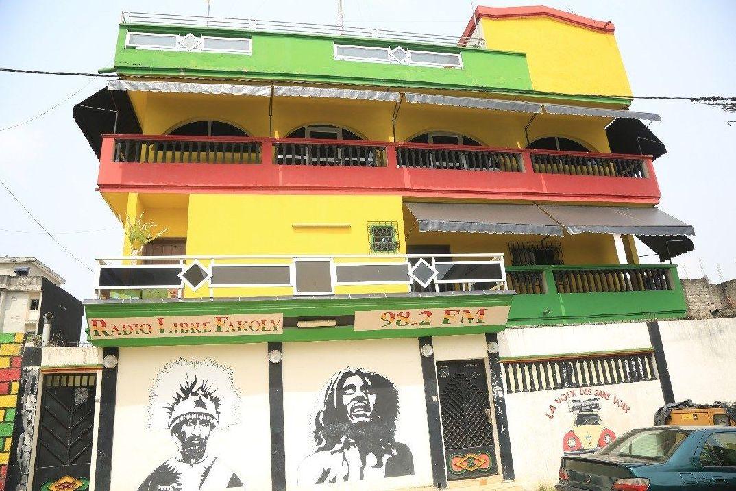 Immeuble abritant le label et la résidence de Tiken Jah Fakoly