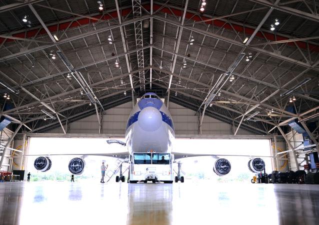 Un Boeing E-4B dans le Nebraska