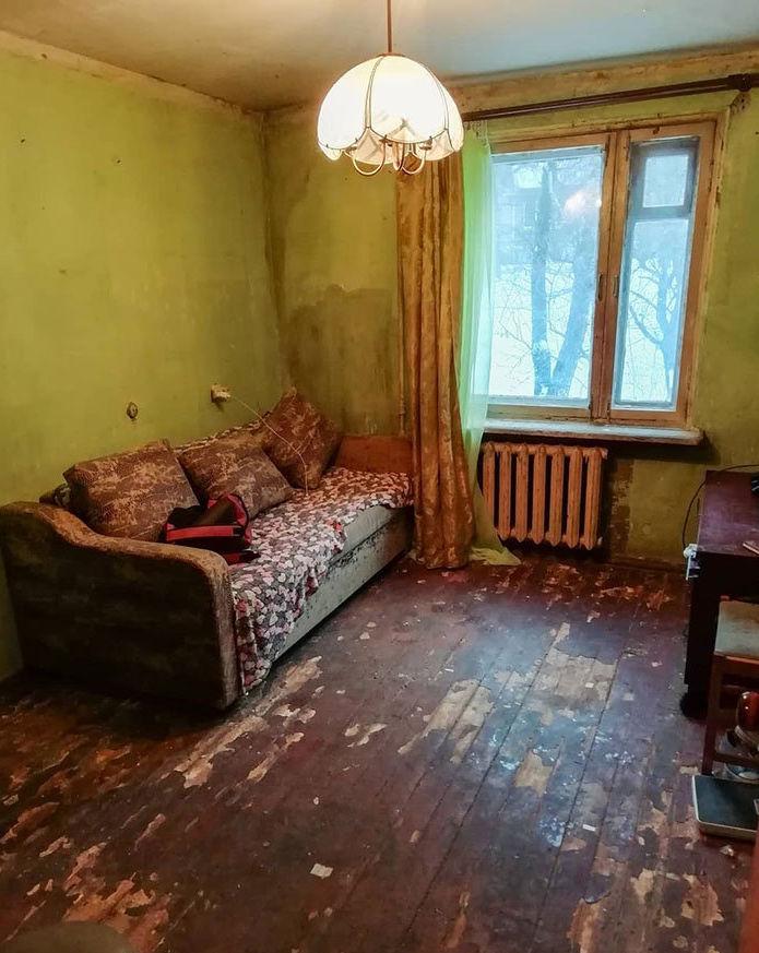 Avant la rénovation de l'appartement pour une femme handicapée