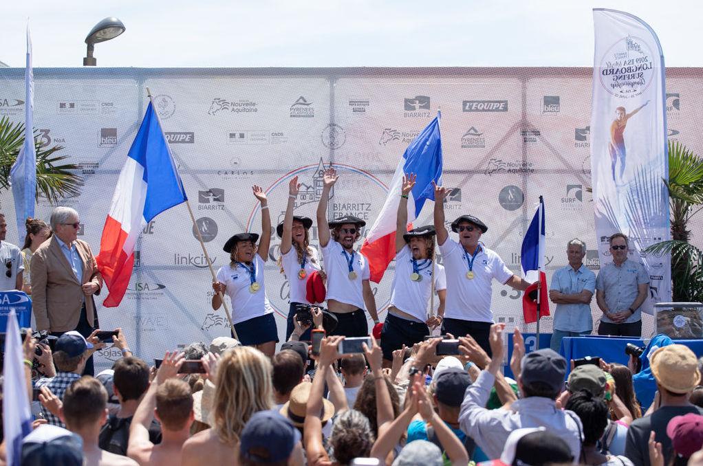 Les sportifs français aux Championnats de longboard à Biarritz