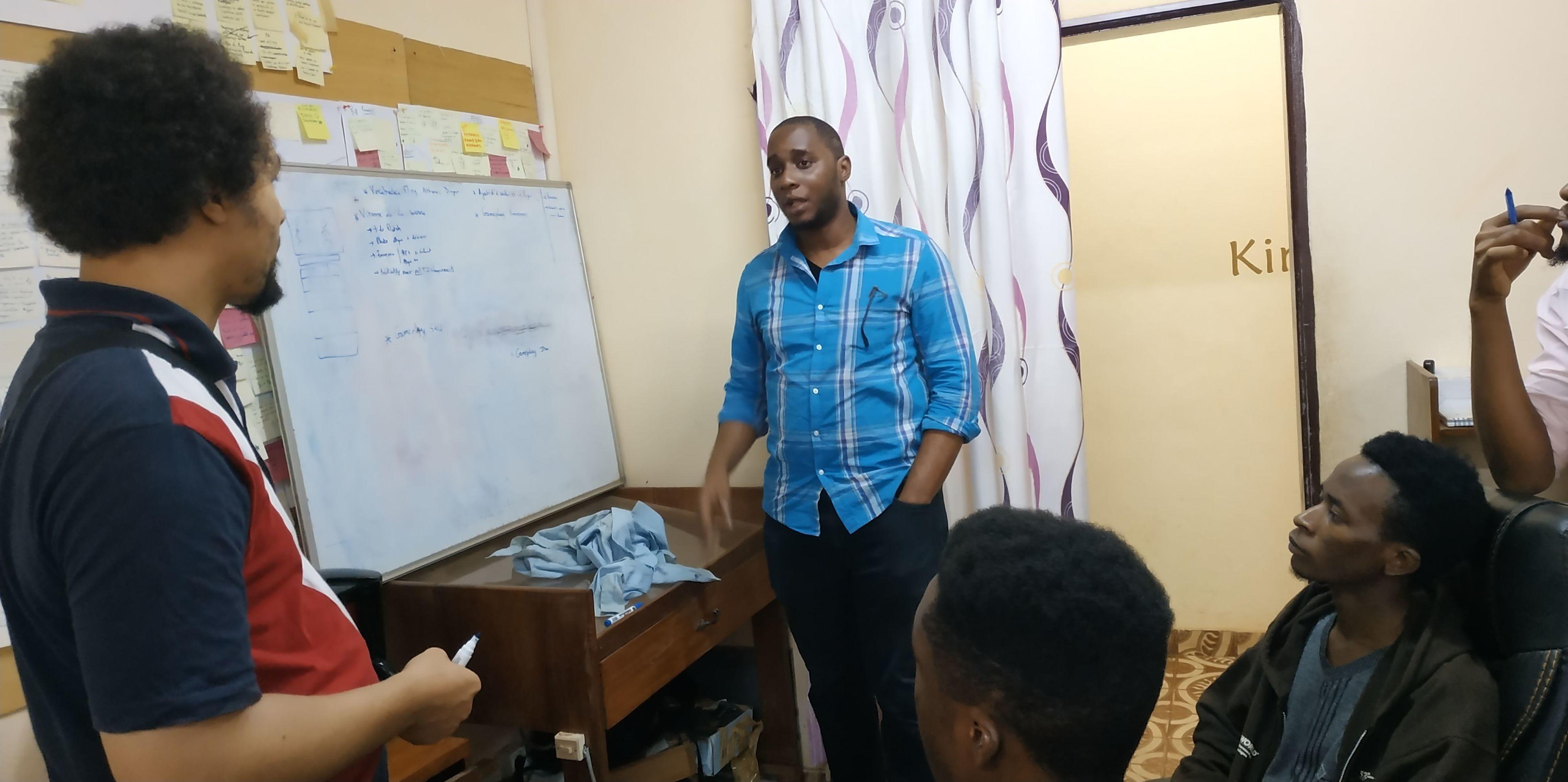 Olivier Madiba, lors d'une séance de travail au studio Kiro'o games; jeux vidéo; Afrique