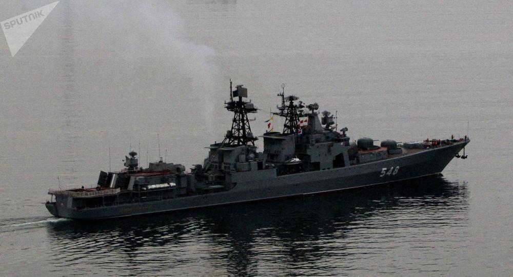 Des navires de la flotte russe du Pacifique prennent le large. Archive photo