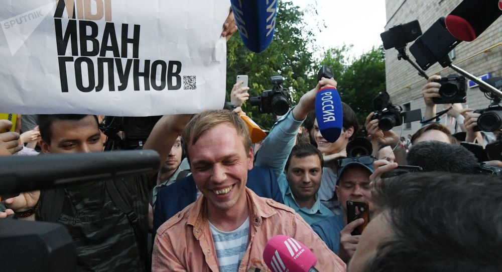 Le journaliste Golounov est remis en liberté