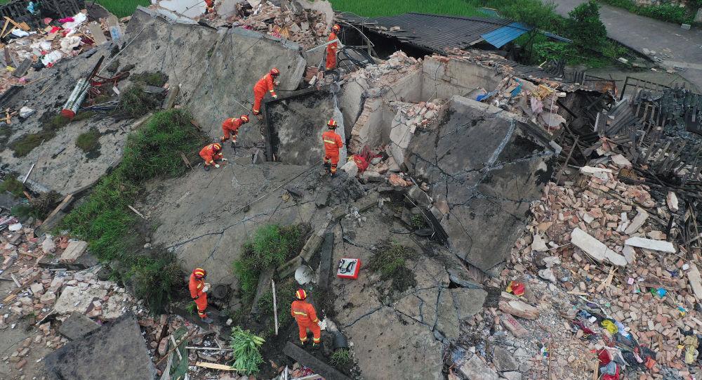 Les conséquences d'un fort sésme dans la province chinoise de Sichuan