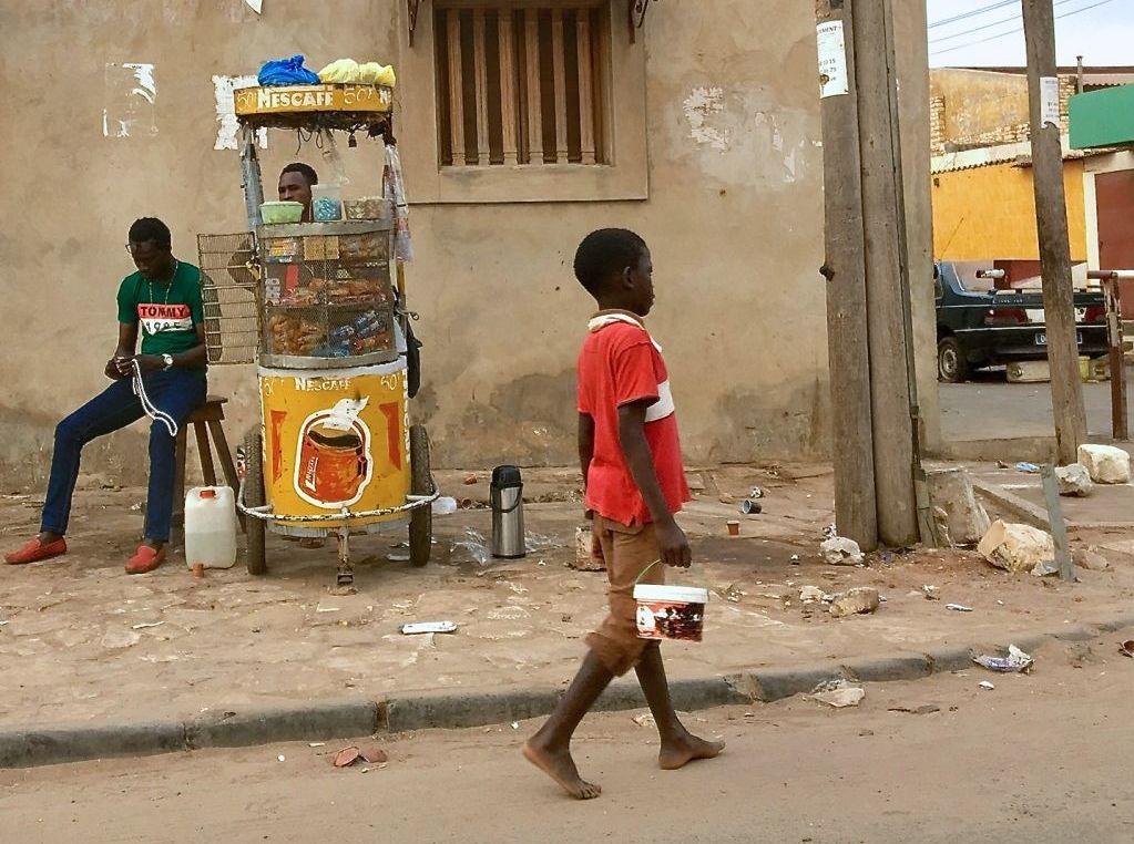 Un enfant talibé à Diourbel, au Sénégal, le 24 juin 2018
