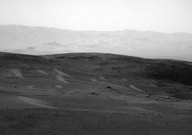 L'image de Mars rover Curiosity