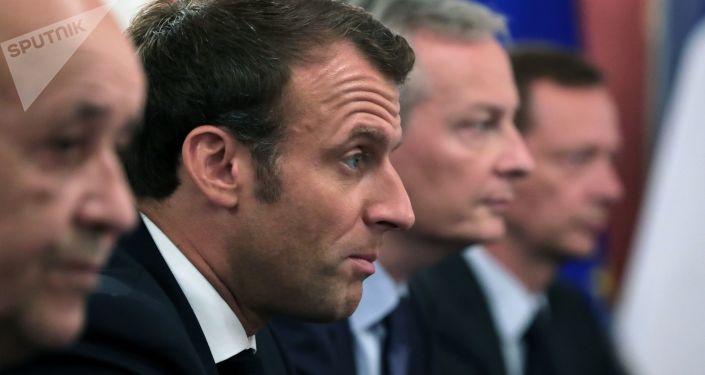 Emmanuel Macron à Osaka