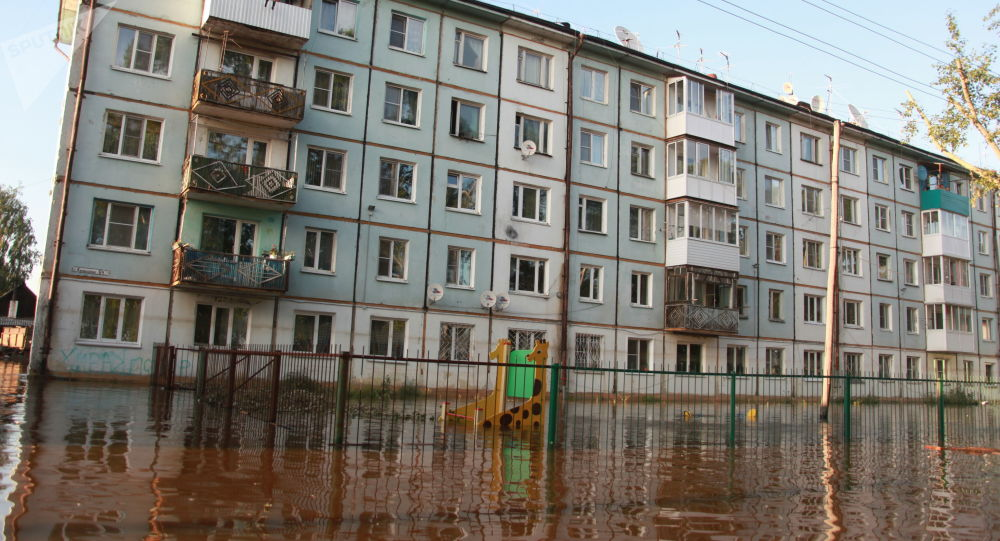 La zone inondée dans la région d'Irkoutsk (juin 2019)