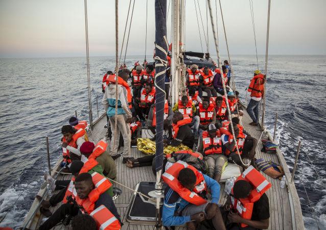 Des migrants, image d'illustration