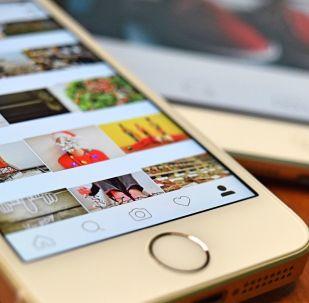 Instagram sur Iphone, photo d'illustration