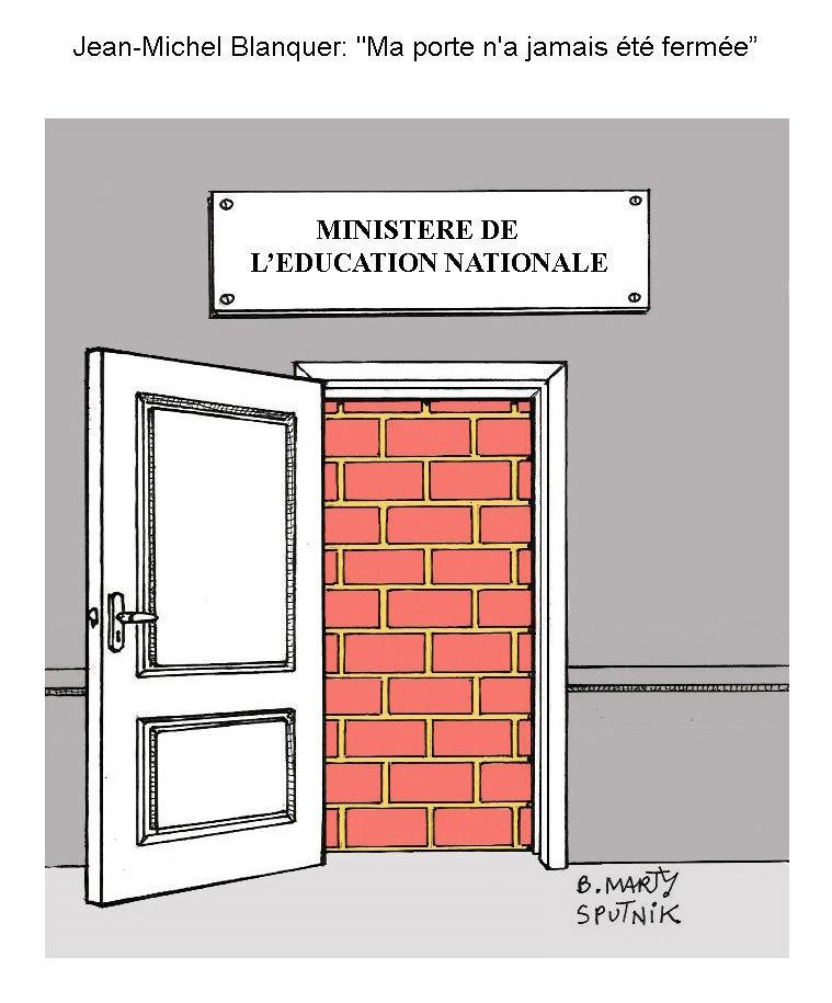 La #PorteDeBlanquer «ouverte» agite des internautes qui la prennent pour un «mur»