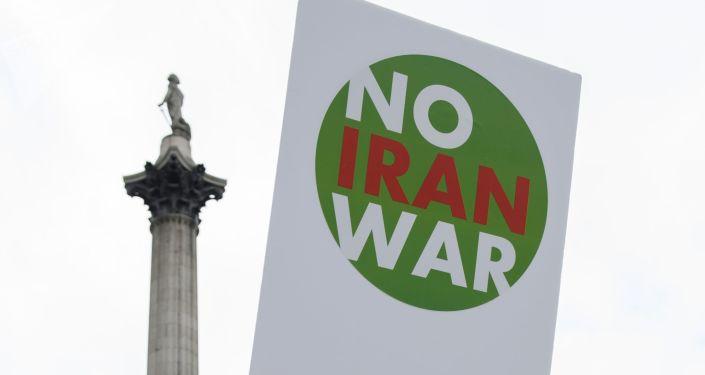 Une manif contre la guerre contre l'Iran