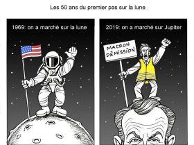 Célébration: il y a 50 ans, l'Homme foulait le sol lunaire