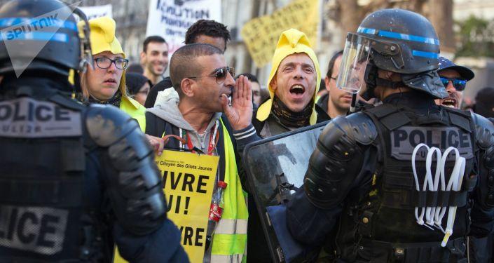 Mobilisation des Gilets jaunes à Paris, archives.