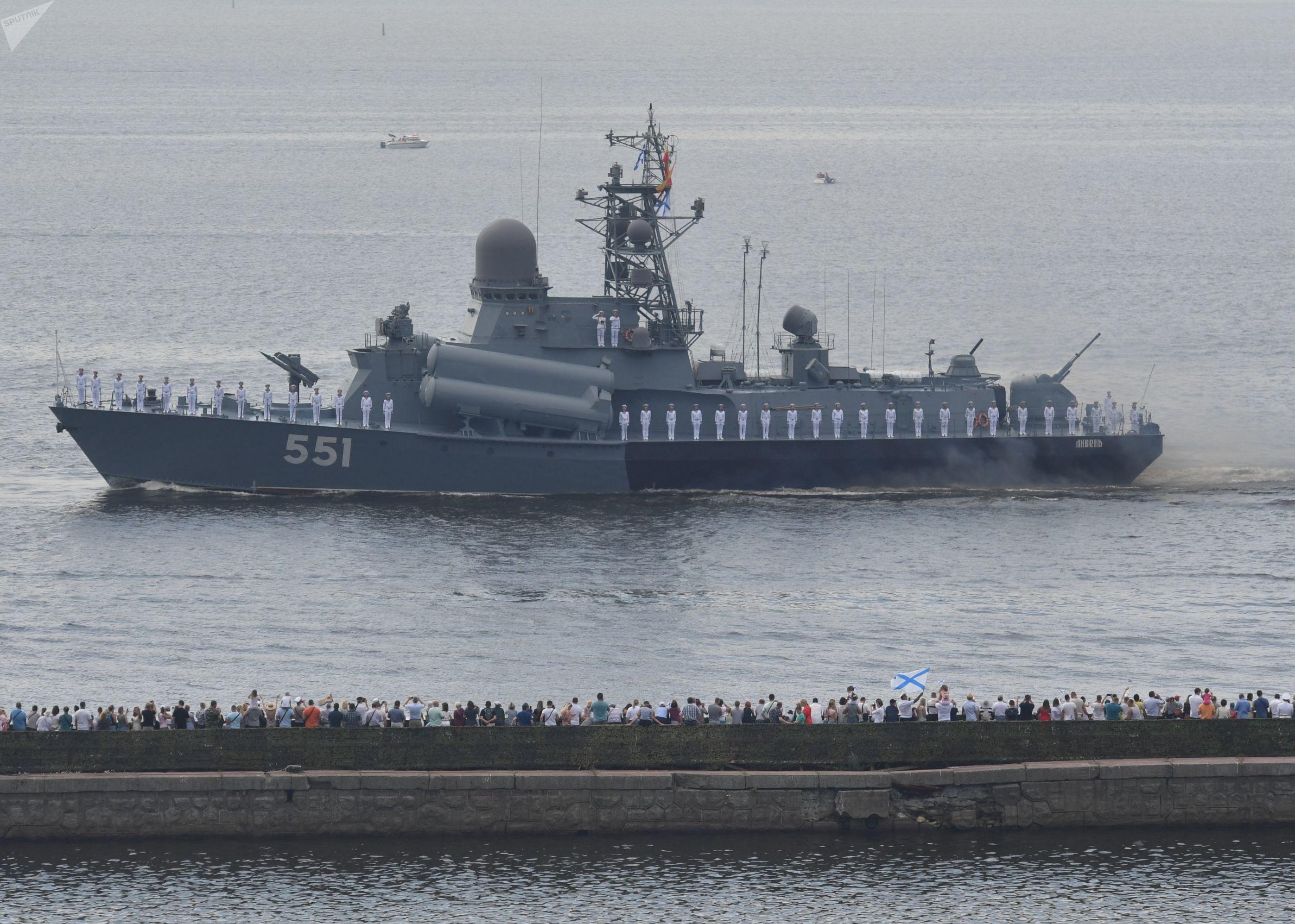 Défilé naval à Kronstadt