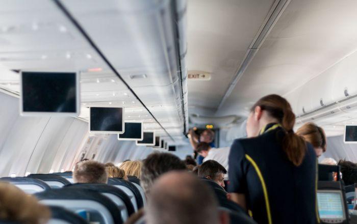 à bord d'un avion