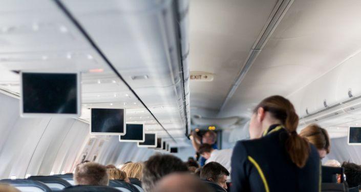 A bord d'un avion (image d'illustration)