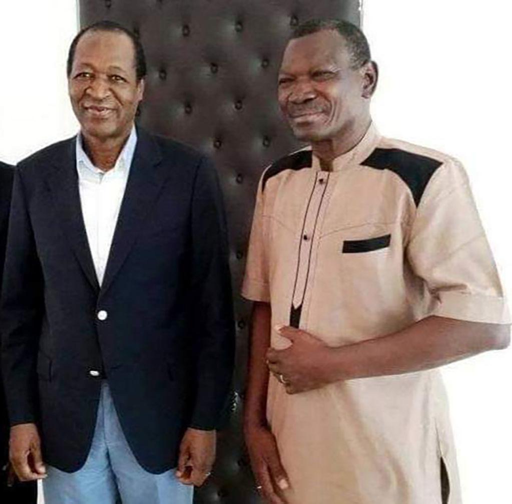 Photo 2 Achille Tapsoba reçu en juillet 2016 à Abidjan par Blaise Compaoré