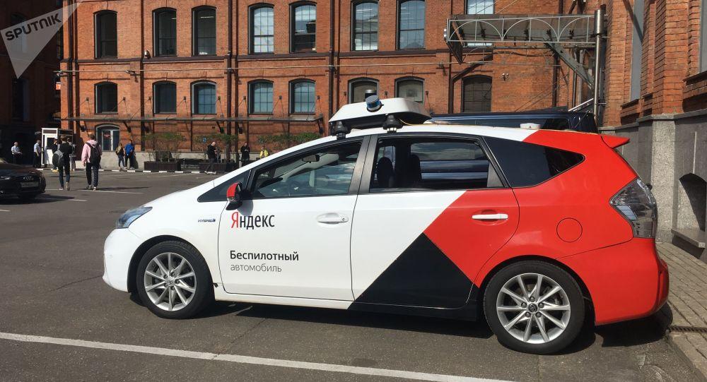 Une voiture autonome de Yandex