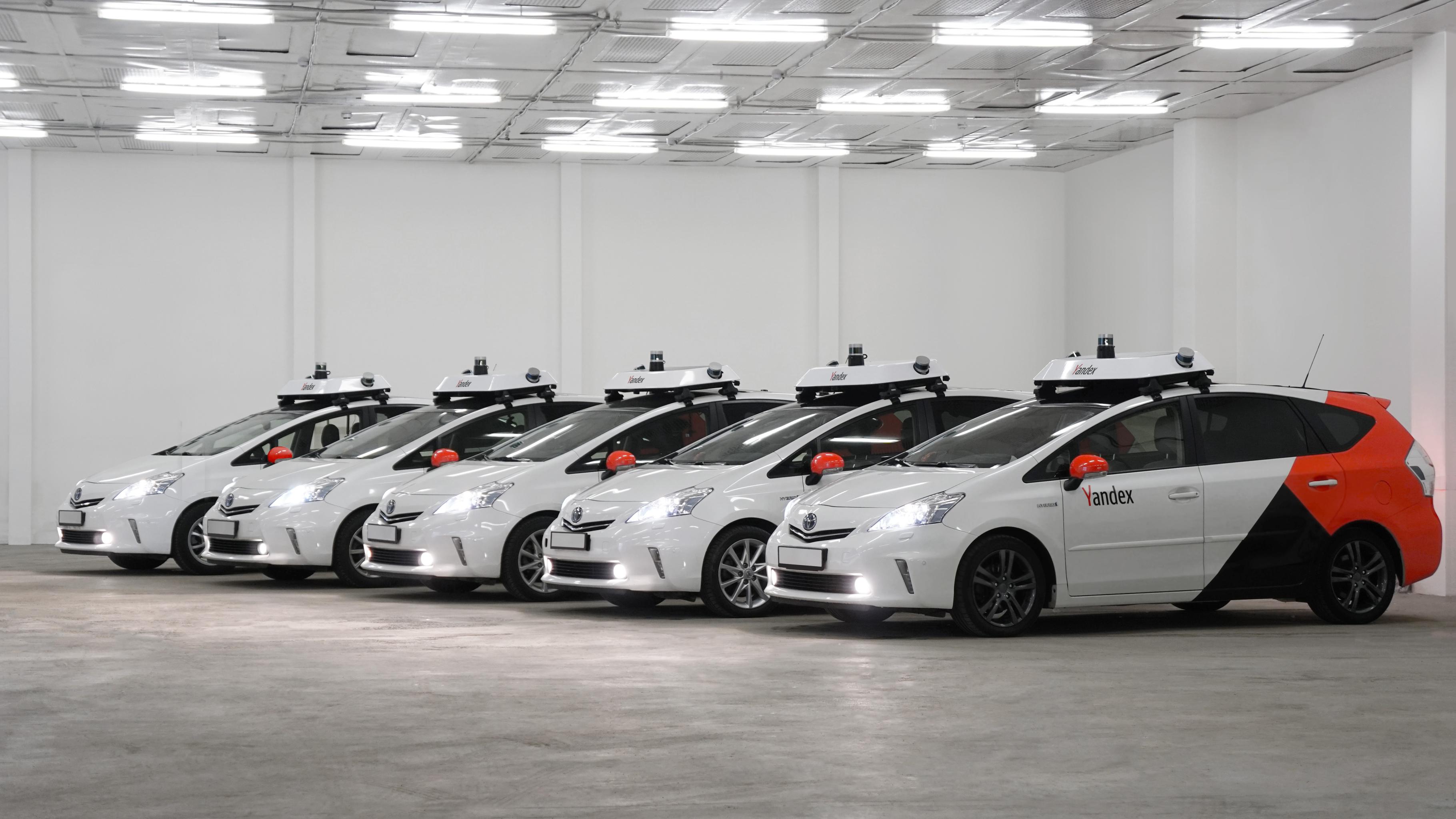 Des voitures autonomes de Yandex