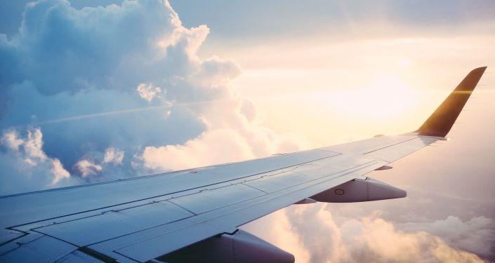 Une aile d'avion (image d'illustration)