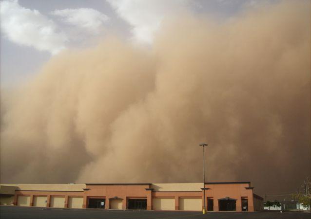 Une tempête de sable (image d'illustration)