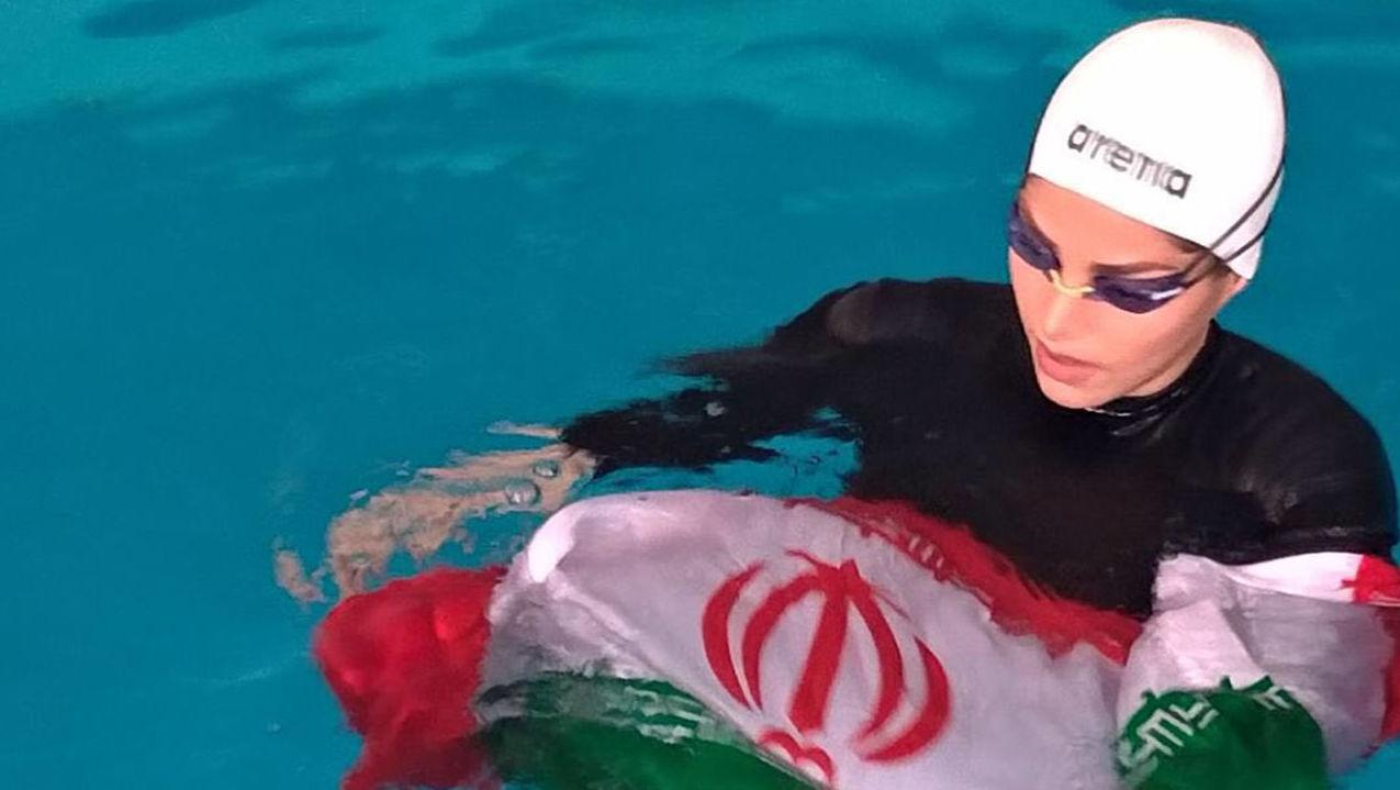 Иранская спортсменка Акрам Конари Дель (Akram Konari Del)