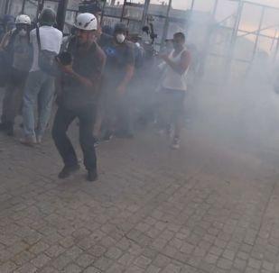 Gaz lacrymogène, canons à eau: la manifestation contre le G7 près de Biarritz dégénère