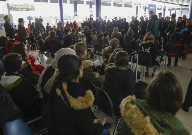 Des réfugiés yézidis en France, le 20 décembre 2018