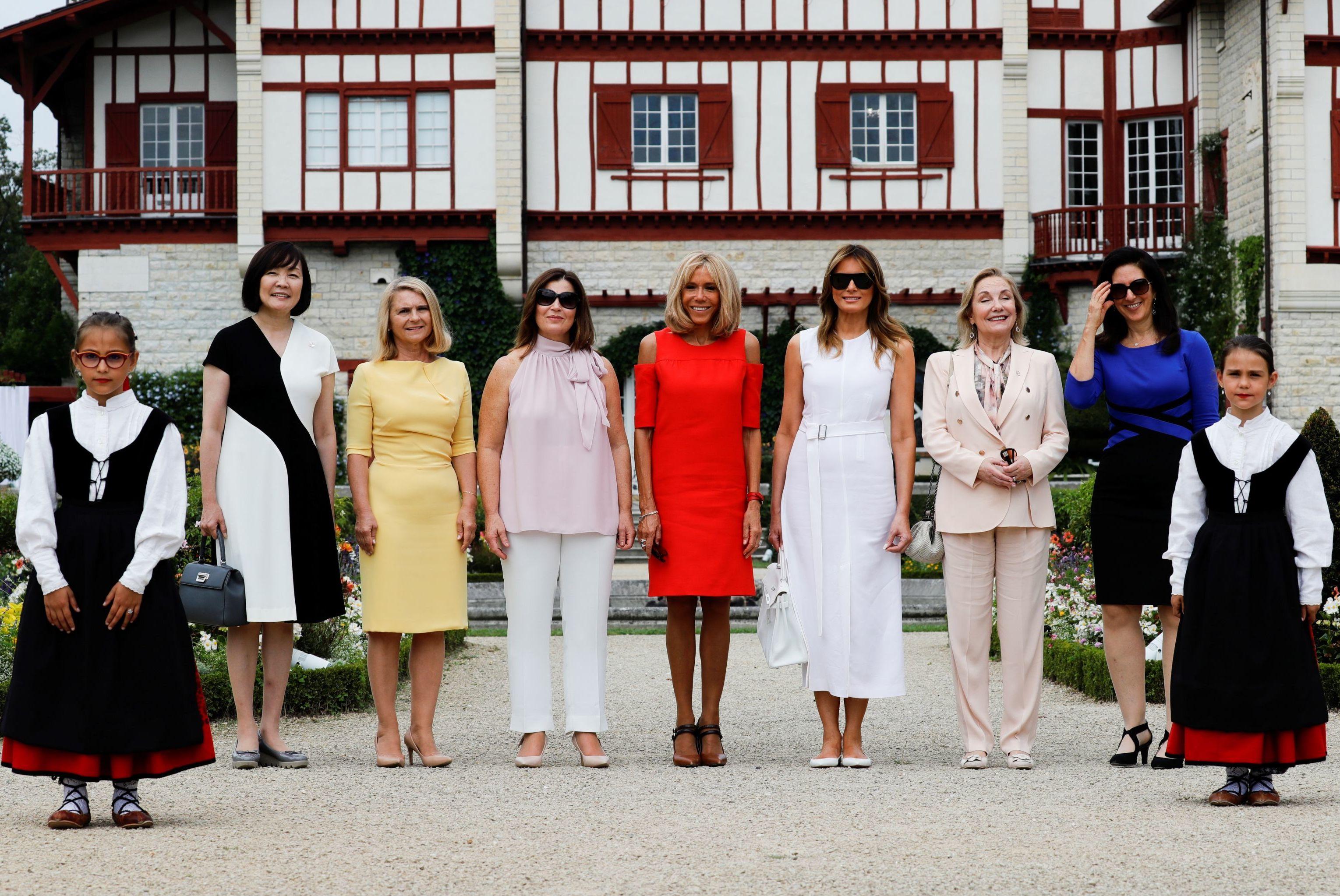 G7 à Biarritz : les Premières dames en visite à la villa Arnaga, Cambo-les-Bains