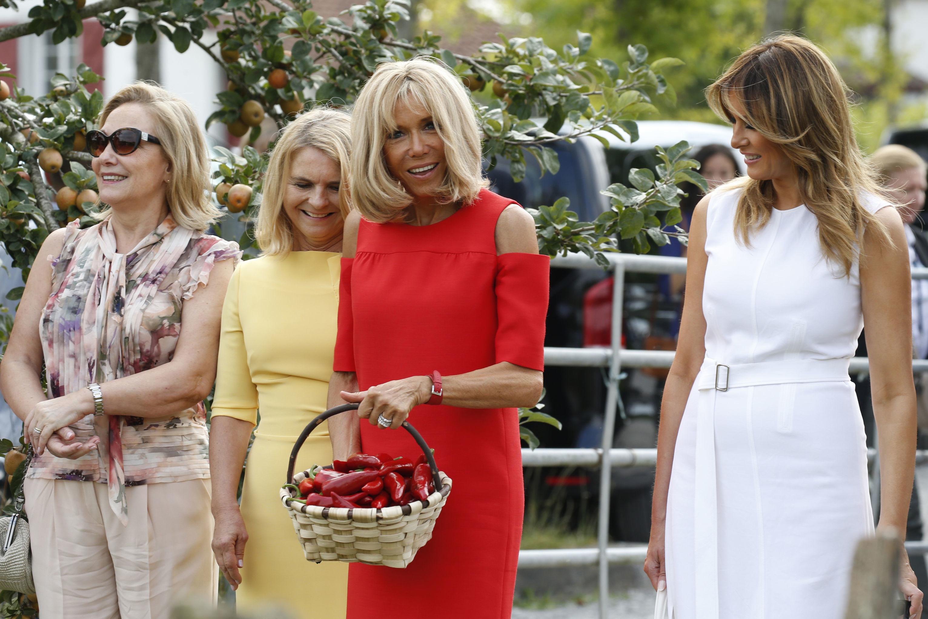 G7 à Biarritz : les Premières dames en visite à Espelette, ville connue pour son piment