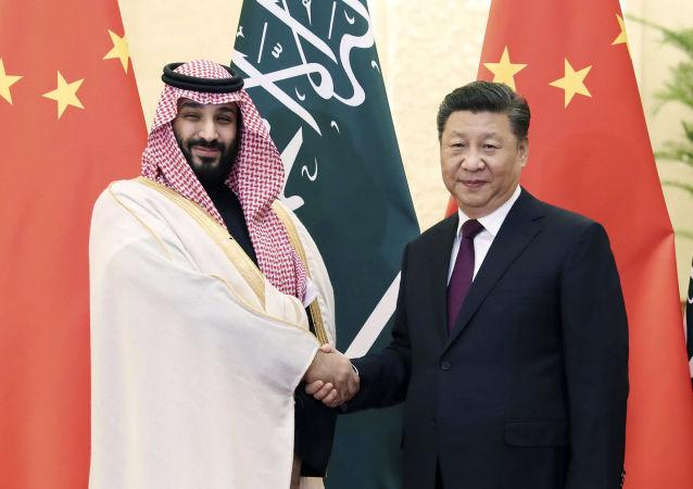 Mohammad bin Salman et Xi Jinping
