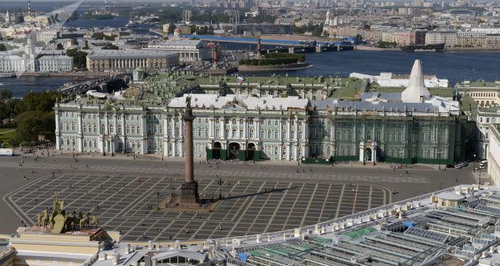 Vue de la place du Palais