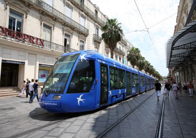 Un tram à Montpellier