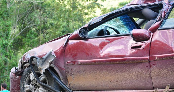 une voiture accidentée (image d'illustration)