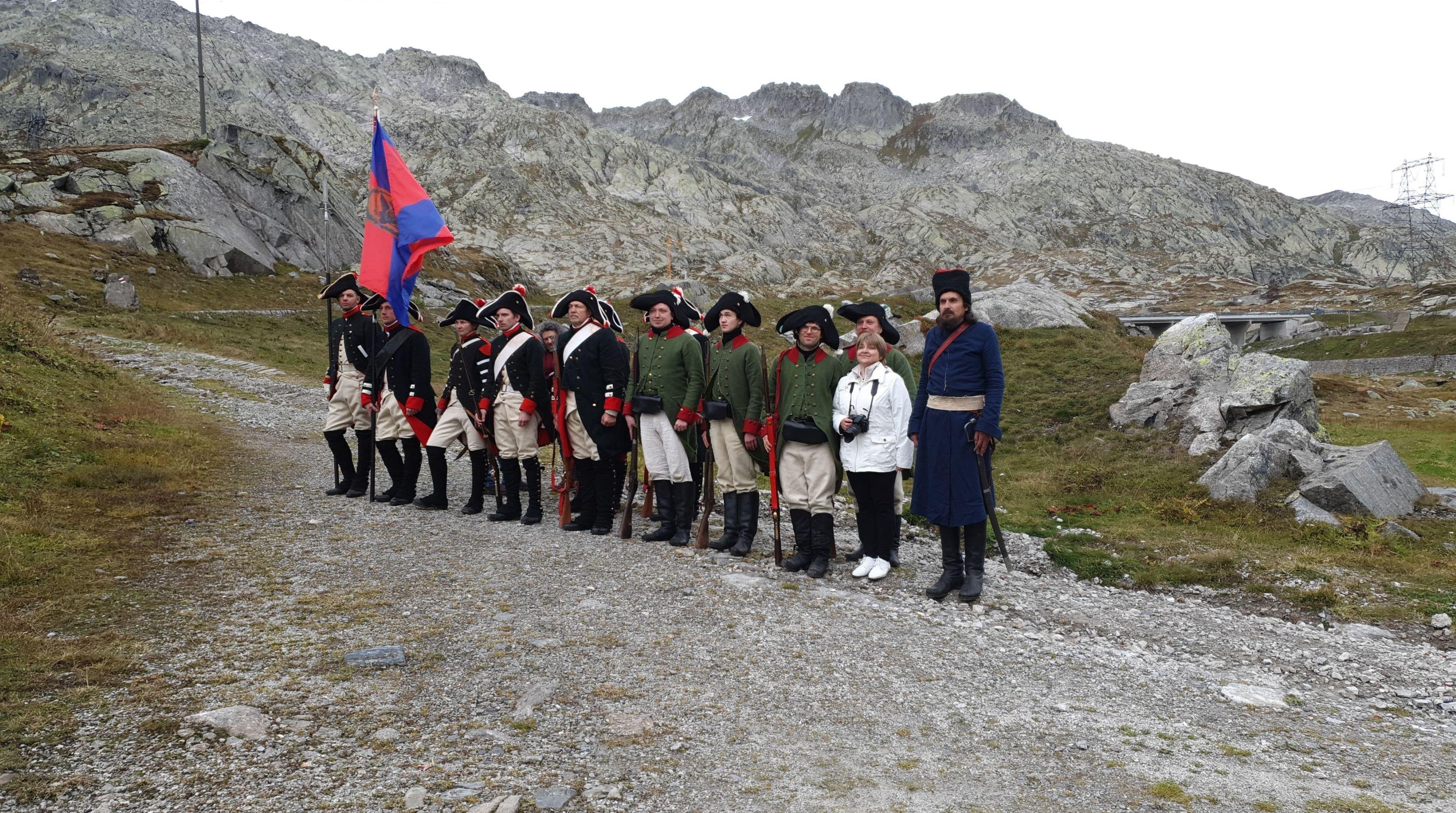 Des pratiquants de reconstitution historique dans les gorges des Schöllenen (archive photo)