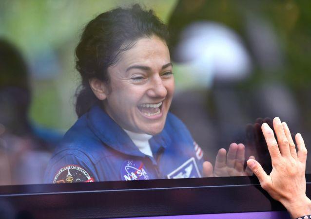 L'astronaute de la NASA Jessica Meir avant son premier vol spatial