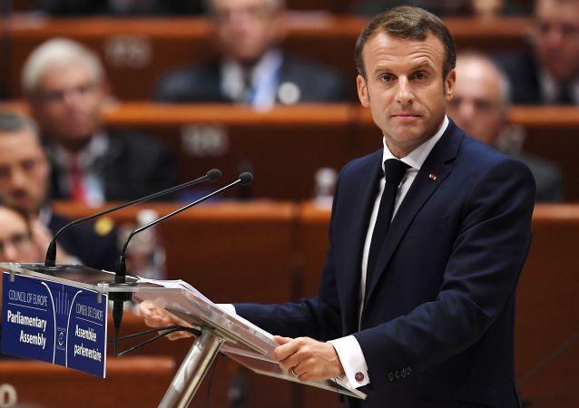 Macron tient un discours devant l'Assemblée parlementaire du Conseil de l'Europe (APCE)