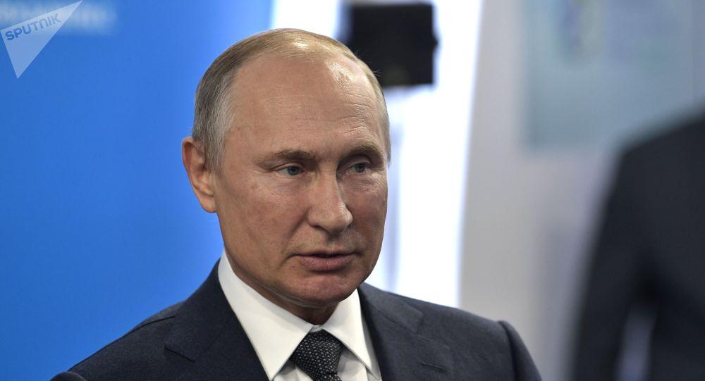 Vladimir Poutine lors de la Semaine russe de l'énergie 2019