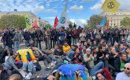 Action d'Extinction Rebellion à Paris, le 7 octobre 2019