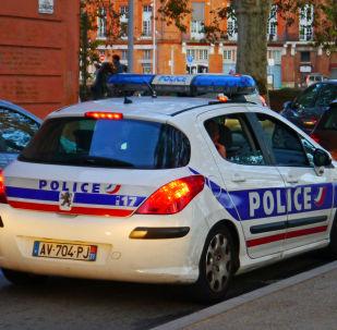 Une voiture de police