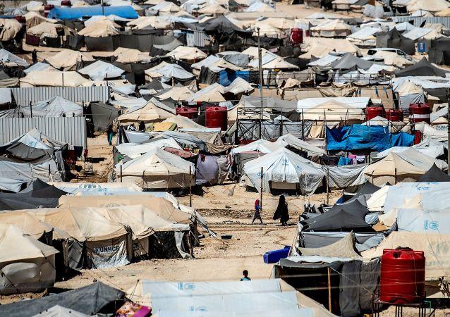 Le camp d'Al-Hol, dans le nord-est de la Syrie
