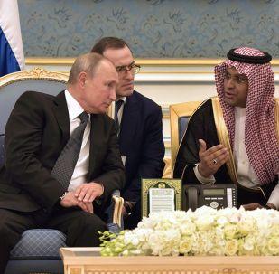 Vladimir Poutine en Arabie saoudite, 2019
