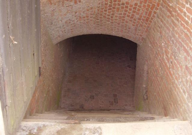 L'entrée d'une cave (image d'illustration)