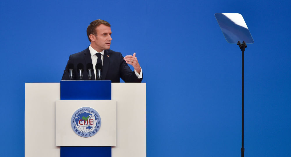 Emmanuel Macron en Chine