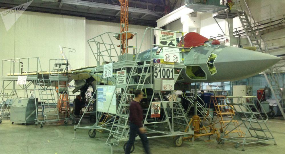 Premier chasseur Su-57 de série à Komsomolsk-sur-l'Amour