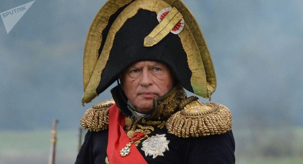 Oleg Sokolov lors d'une reconstitution historique